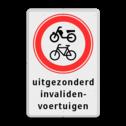 Verkeersbord RVV C15 + 3txt C15, C14, C13, C11, invalide