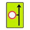 Verkeersbord Eerstvolgende zijstraat is gesloten voor alle verkeer Verkeersbord RVV L09-C01 - Volgende zijstraat is gesloten voor verkeer - fluor achtergrond Fluor geel-groen / zwarte rand, (RAL 9005 - zwart), C01
