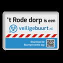 Veiligebuurt.nl - met uw wijknaam - informatiebord  preventie, attentie, velserbroek