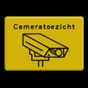 Informatiebord geel/zwart cameratoezicht cameratoezicht, VPRO