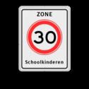 Verkeersbord RVV A01-xxx zb + txt Zonebord , A01-30