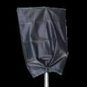 Afdekhoes zwart 800x1050, polypr. 4 ringen (50 stuks) hoes, afdek, verkeersbordzak, zak over bord, tijdelijk, onklaar maken, afdekken