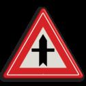 Verkeersbord U nadert een voorrangskruispunt, u heeft voorrang Verkeersbord RVV B03 - Voorrangskruispunt, u heeft voorrang B03 voorrangskruising, kruising, driehoekbord, pas op, let op, B3