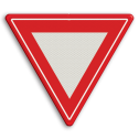 Verkeersbord Verleen voorrang aan de bestuurders op de kruisende weg Verkeersbord RVV B06 - Voorrangskruising - verleen voorrang B06 B07, Kruising, B6