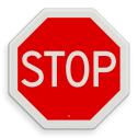 Verkeersbord STOP; verleen voorrang aan de bestuurders op de kruisende weg Verkeersbord RVV B07 - Stoppen voor voorrangsweg B07 Stopbord, nu stoppen, voorrangswegbord, stop, B7