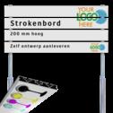 Strokenbord VOL reflecterend + eigen ontwerp (excl. palen) Strokenbord, Verzwaard plank, Full-colour