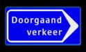 Verkeersbord Eenrichtingsweg Verkeersbord RVV BB100 rijrichting, eenrichting, bord met pijl, vierkant bord met pijl, blauw bord met pijl, c4