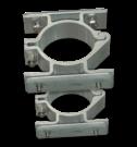 Bordbeugel dubbelzijdig (set 2 stuks) Ø60mm vastmaken, bevestigen, beugelset