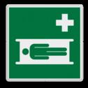 Veiligheidspictogram Locatie Brandcard Veiligheidspictogram - Brandcard - E013 ongelukken, vervoeren, verwondingen, verwonde, ehbo