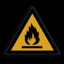 Veiligheidspictogram Waarschuwing brand gevaar Veiligheidspictogram - Brandgevaarlijke stoffen - W021 Brand, gevaar, vuur