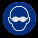 Veiligheidspictogram Bril dragen verplicht Veiligheidspictogram - Bril dragen verplicht - M004 NEN7010, veiligheidspictogram, bril,