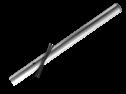 Verkeersbord-buispaal  600mm boven de grond - Aluminium paal, bevestigen, vastmaken, palen, verkeersbordpaal, bordpaal