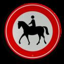 Verkeersbord RVV C01 - ruiters verbodsbord, verboden voor paarden, geen paard, ruiter te paard