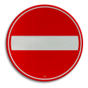 Verkeersbord Eenrichtingsweg, in deze richting gesloten voor voertuigen, ruiters en geleiders van rij- of trekdieren of vee Verkeersbord RVV C02 - Eenrichtingsweg, in deze richting gesloten C02 verboden in te rijden, verbodsbord, niet inrijden, c2