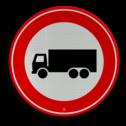 Verkeersbord Gesloten voor vrachtauto: motorvoertuig, niet ingericht voor het vervoer van personen, waarvan de toegestane maximum massa meer bedraagt dan 3500 kg Verkeersbord RVV C07 - Gesloten voor vrachtauto's C07 verbodsbord, verboden voor vrachtwagens, geen vrachtwagens, verboden, vrachtauto's, c7