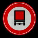 Verkeersbord Gesloten voor voertuigen met bepaalde gevaarlijke stoffen. Verkeersbord RVV C22 - Gesloten voor voertuigen gevaarlijke stoffen C22 verbodsbord, verboden,