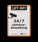 Informatiebord - Camerabewaking + logo Schoolplein rookvrij, schoolzone, astmafonds, astma, long fonds