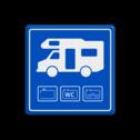 Parkeerbord Camper - losplaats stoep, parkeerplek, parkeerplaats, auto, electrisch, E8, smart