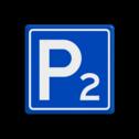 Verkeersbord RVV E04 - Parkeergelegenheid met nummer parkeerplaats, E4 met een nummer