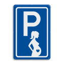 Parkeerbord type E08 parkeren zwangere vrouwen zwanger, vrouw, BT11, Verloskundige