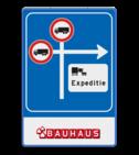 Routebord RVV C07 - volg route expeditie VUmc, ziekenhuis,
