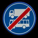 Verkeersbord ** NIEUW RVV - GELDIG vanaf 01-01-2017 ** Einde rijbaan of rijstrook uitsluitend ten behoeve van lijnbussen en vrachtverkeer. Verkeersbord RVV F20 - Einde rijbaan of -strook bus en vrachtverkeer F20 nieuw, vrachtauto, bus
