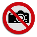 Veiligheidspictogram Verboden te bellen / mobiel uitschakelen Veiligheidspictogram - Fotograferen verboden - P029 soepbord, bellen verboden, mobiele telefoon, uitschakelen, mobiel bellen, verboden, C1