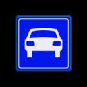 Verkeersbord Autoweg  Verkeersbord RVV G03 - Autoweg G03 100 km weg, G3