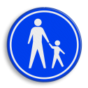 Verkeersbord Voetpad Verkeersbord RVV G07 - Voetpad G07 voetgangers, wandelpad, G7