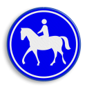 Verkeersbord Ruiterpad Verkeersbord RVV G09 - Ruiterpad G09 paard, amazone, wandalpad, G9