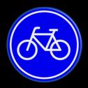 Verkeersbord Verplicht fietspad Verkeersbord RVV G11 - Fietspad G11 fietsen, G11, fietspad, verplicht