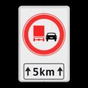 Verkeersbord RVV F03-xxx met ondertekst F03OB411 cadeau, kado, Zonebord , A01-30