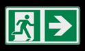 Veiligheidspictogram - Vluchtroute naar rechts verzamelplaats,