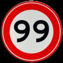 Verkeersteken Maximumsnelheid Verkeersteken A01-00 vrij invoerbaar - klasse III 50 kilometer per uur, 50 jaar, jubileum, bord in tuinjarig, feestbord, speciale gelegenheid, A1
