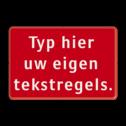 Tekstbord rood/wit 3 regelig zelf tekstbord maken, tekst invoeren, rood bord, brandweer, Tekstbord, tijdelijke verkeersmaatregelen, werk langs de weg, omleidingsborden, tijdelijk bord, werk in uitvoering, 3 regelig bord,
