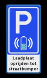 Parkeerbord Parkeerplaats + oplaadpunt met laadplaat voor elektrische auto's   Parkeerbord RVV E08O - laadplaat met eigen tekst wireless charge, e-laad, contactloos laden