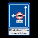 Verkeersbord Rechtsaf afgesloten voor vrachtverkeer Verkeersbord RVV L10-02l + onderbord + ondertekst doodlopende weg, l8, versperring, geen doorgang, L8