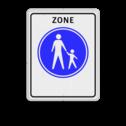 Verkeersbord Start voetgangerszone Verkeersbord RVV G07zb - Start voetgangerszone G07zb voetgangers, wandelpad, G7, G7zb