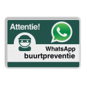 WhatsApp Buurtpreventie - Informatiebord basic - L209wa L209 Whats App, WhatsApp, watsapp, preventie, attentie, buurt, L209