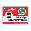 WhatsApp Attentie Buurtpreventie verkeersbord 03 - L209wa Whats App, WhatsApp, watsapp, preventie, attentie, buurt, L209