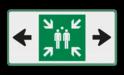 Veiligheidspictogram - Verzamelplaats - E007 + pijl links-rechts Veiligheidspictogram, Verzamelplaats, E007, pijl links-rechts