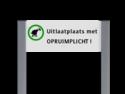 Informatiebord ALUMINIUM unit, Uitlaatplaats met opruimplicht Honden uitlaten, poep