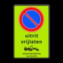 Parkeerverbod Parkeerverbod, eigen tekst + wegsleepregeling Parkeerverbod RVV E01 + eigen tekst + wegsleepregeling parkeerbord, verboden te parkeren, eigen terrein, parkeerverbod, wegsleepregeling, eigen tekst invoeren, uitrit vrijlaten,E1