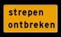 Tekstbord - OB603t - strepen ontbreken - Werk in uitvoering Fluor geel / gele rand, (RAL 1023 - geel), Hier uw eigen, tekstregels, klik op bewerken >