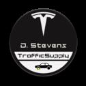 Logo-naambord TESLA - 300mm zwart met eigen tekst of kenteken
