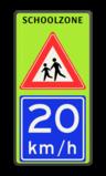 Verkeersbord J21 / A4 SCHOOLZONE Schoolzone, J21, A04-20