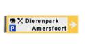 Bewegwijzeringsbord - ENKELZIJDIG - 800x200x15mm RAL1023 2 regelig en pijl