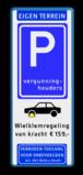 Parkeerbord Vergunninghouders en wielklemregeling van kracht Parkeerbord Eigen terrein E09 vergunninghouders + wielklemregeling Wit / blauwe rand, (RAL 5017 - blauw), Eigen terrein, E09, Wielklem, wielklemregeling, van kracht ¤ 159,-, Verboden toegang