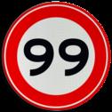Verkeersbord Maximumsnelheid Verkeersbord RVV A01-000 - Vrij invoerbaar km, a1, 10, 15, 6, 5km