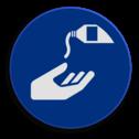Veiligheidspictogram Het reinigen van handen is verplicht Veiligheidspictogram - Handen reinigen verplicht - M032 NEN7010, veiligheidspictogram, handen, reinigen, verplicht.